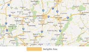 map of ky and surrounding areas kentucky time home buyer mortgage loans usda loan eligible