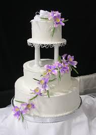 wedding cake with purple flowers wedding cakes cake decoration
