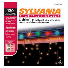 C9 Christmas Lights Lowes by Shop Sylvania 120 Count Multicolor Christmas Icicle Lights At