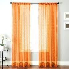 Burnt Orange Sheer Curtains Orange Curtains Target Howtolarawith Me