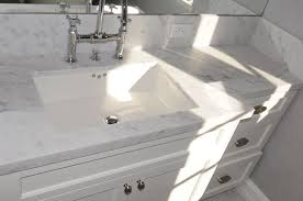 Vanity Bathroom Tops by Bathroom White Marble Counter Top With Double White Sink With