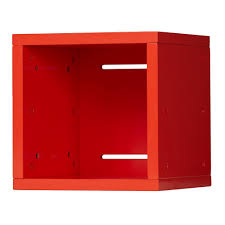 Small Wall Shelf Small Cubby Cube Wall Shelf Red The Land Of Nod