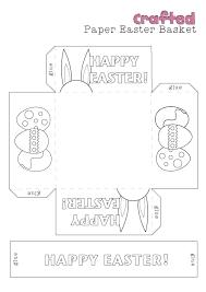 easter egg baskets to make easter egg basket templates happy easter 2017