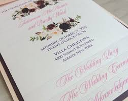 layered wedding programs layered wedding program etsy