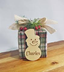 snowman place cards wood place cards christmas table setting