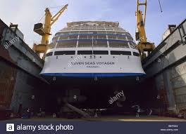 Freeport The Seven Seas Voyager Cruise Ship In Dry Dock Freeport Bahamas