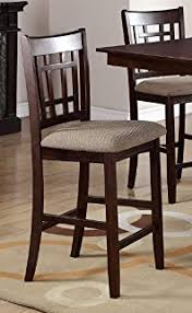 amazon com poundex modern counter height dining side chair