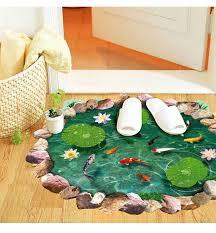 aliexpress com buy 60 90cm 3d wall sticker imitation pond floor