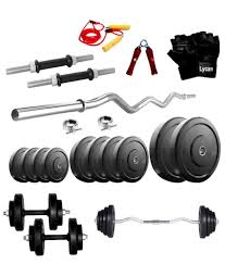 lycan home gym 20 kg rubber weight 3 feet curl rod dumbbell
