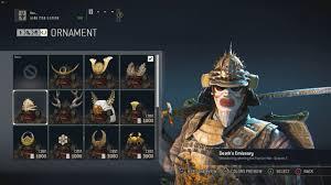 for honor season 2 winners rewards for samurai