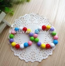 beaded bracelet girl images Little girl 39 s rainbow jelly bead bracelet kids rainbow frozen bead jpg