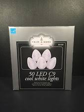 trim a home cool white led lights 110 string c9 energy