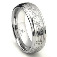 8mm ring cobalt xf chrome 8mm celtic wedding band ring