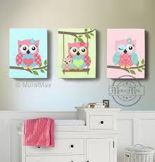 Owl Nursery Decor Room Decor Owl Canvas Baby Nursery Owl Canvas