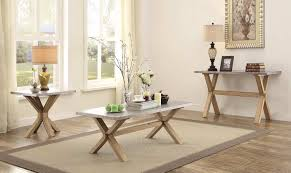 homelegance luella coffee table set weathered oak with zinc