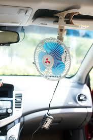 plug in car fan oscillating full seal guard clip on car fan 6 inch with cigarette