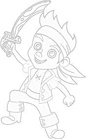 jake neverland pirates coloring pages cut outs