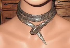 snake necklace choker images Pin by alice on snake woman pinterest 1920s jpg