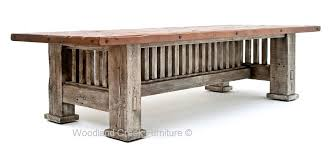 Mission Style Dining Room Furniture Reclaimed Barnwood Dining Table Mission Style Dining