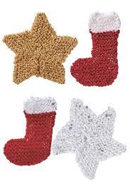 mini star and stocking christmas decoration knitting patterns