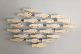 fish shoal wall art