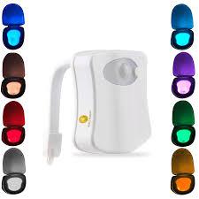 2 pack motion activated toilet led night light motion sensor