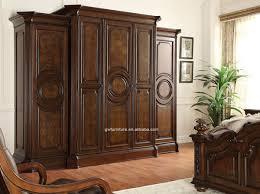 rubber wood bedroom furniture king size top quality bedroom set