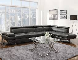 Coaster Leather Sofa Piper Sectional Sofa 503022 In Charcoal Leather Match By Coaster