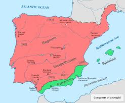 Spain Political Map by The Visigoths In Spain Spainthenandnow