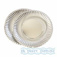 silver wedding plates new arrival 50pcs pack silver foil paper plates disposable paper
