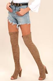 s high boots steve madden kimmi boots camel suede boots peep toe thigh high