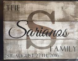wedding gift name sign rustic name sign etsy