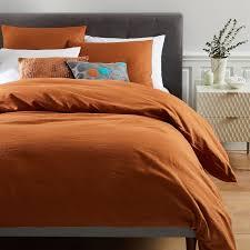 Brown And Cream Duvet Covers Belgian Flax Linen Duvet Cover Shams West Elm