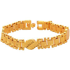 gold plated charm bracelet images Buy stylish fancy gold plated charm bracelet for men online in india jpg
