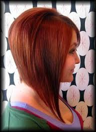 red brown long angled bobs long angled bob this has been my on off hair cut for years