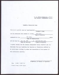 parental consent form vulture mine template 14278114 vawebs