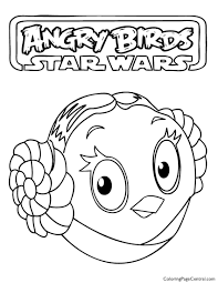 angry birds star wars u2013 princess leia 01 coloring page coloring