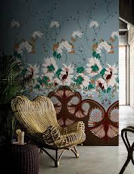 this wallpaper and rattan chair so beautiful u2026 bohemian