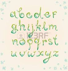 decorative floral alphabet curly ornamental font can