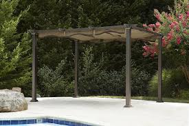 garden oasis pergola deluxe shaded canopy home outdoor decoration