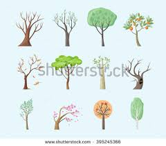 flat tree vectors free vector stock graphics images