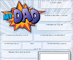 fathers day fill in card kids craft project for dad instant