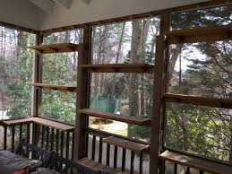 a big screened porch gets some