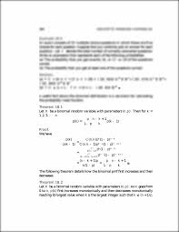 theorem 18 1 let x be a binomial random variable with parameters n