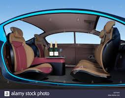 Autonomous Car Interior Concept Luxury Interior Serve Cool Drink