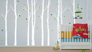 Wall Tree Decals For Nursery Large Wall Birch Tree Nursery Decal Forest Vinyl Sticker
