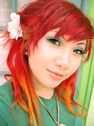 how to put red hair in on the dide with 27 pieceyoutube april fool romance unnaturally colored hair dye review