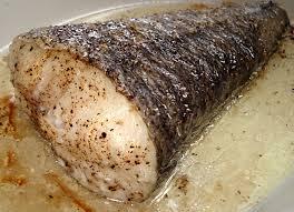 cuisiner du colin queue de colin au four sauce crevettes et chignons