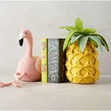Pineapple Home Decor Karrie Barron Flamingo And Pineapple Felt Bookend 43 Liked