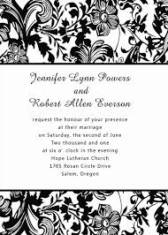 black and white invitations black and white vintage damask pocket wedding invitations ewpi073